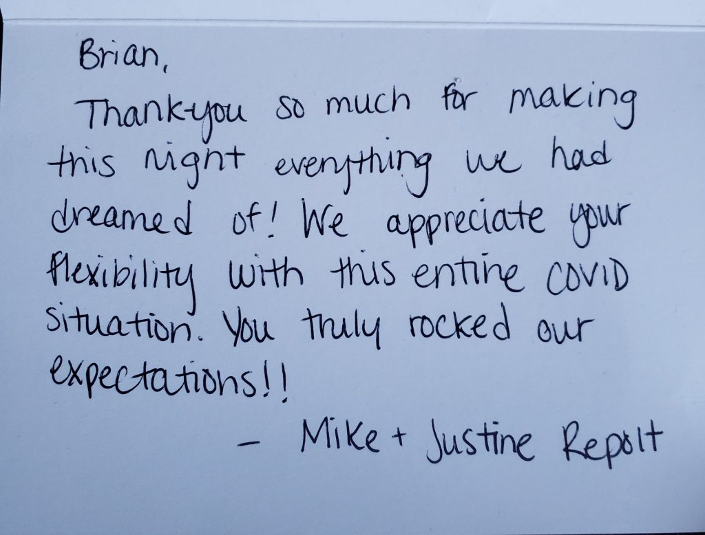 Mike and Justine Repolt Thank You Card